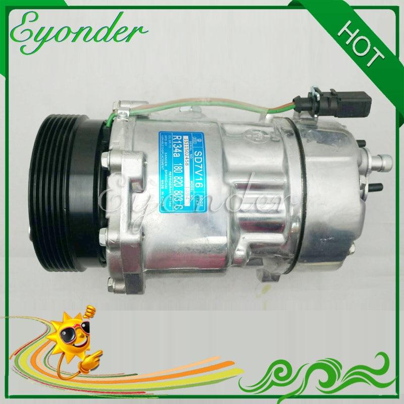 7V16 SD7V16 AC A/C Air Conditioning Compressor Cooling Pump for Audi TT A3 1.8 1.8L 1J0820805 1J0820803A for Sanden 1206 4254|air conditioning compressor|conditioning compressor|compressor air conditioning - title=