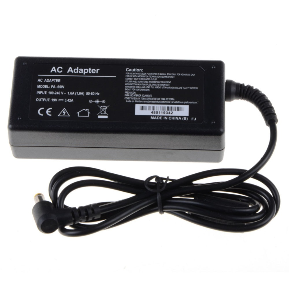 Notebook Computer Replacements Laptop Adapter 19V 3.42A 65W AC For Acer Power Supply Adapter Charger Replacements VCC03 slim laptop charger ac power adapter for acer liteon adp 135kb t 5 5 1 7mm 135w 19v 7 1a notebook power supply