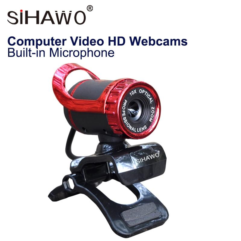 Webcams HD ordinateur USB Webcams vidéo HD avec Microphone intégré absorbant le son 12.0 M Pixels CMOS 30fps lentille en verre 5 couches