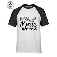 2017 Funny Hip Hop Printed Funny Music Therapist Music Notes Score T Shirt For Men
