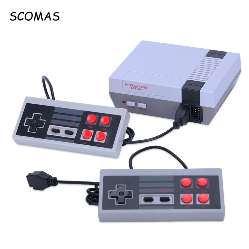 SCOMAS Classic Mini TV Game Console 8Bits Family Portable Gaming Consoles with Dual Gamepad Built-in 620 Games AV Out Retro Game