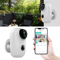 Indoor Wide Angle Security Camera USB Wall Mount Battery Powered Low Power Consumption Wireless IR Night Vision WIFI Home Safety