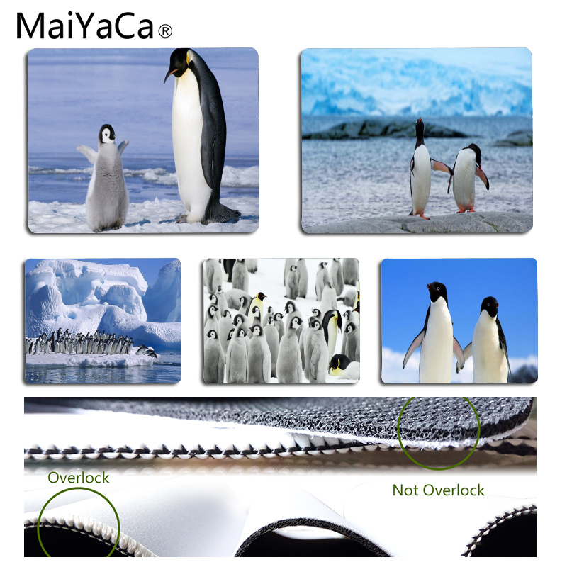 MaiYaCa Personalized Cool Fashion Penguins Durable Rubber Mouse Mat Pad Size for 180*220*2mm and 250*290*2mm Mousepad