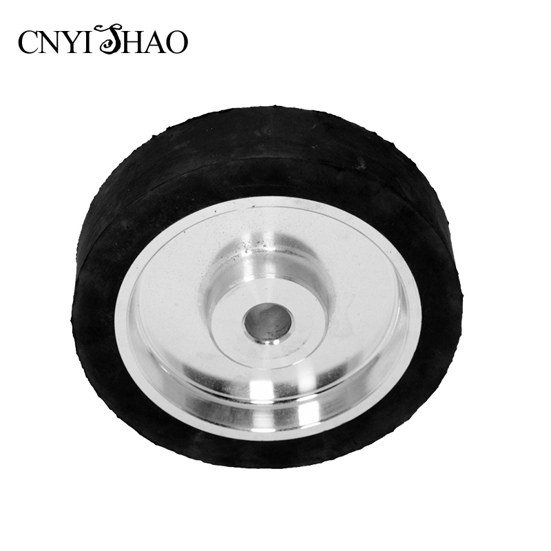 CNYISHAO 200*50*25mm Flat Contact Wheel Solid Rubber Grinding Wheel for Vertical Belt Sanders цена