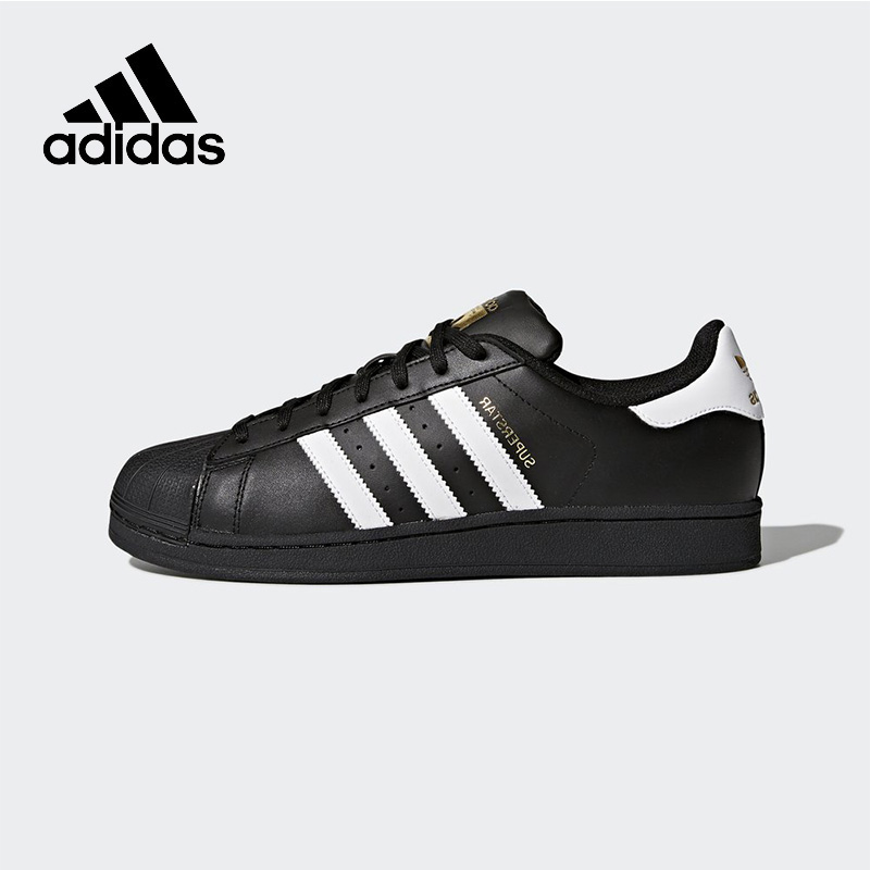 Official New Arrival Adidas Originals Superstar Unisex Skateboarding Shoes Sneakers Classique Shoes Hard-Wearing adidas x pharrell little kids superstar supercolor