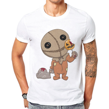 Funny Tshirts Men T-Shirt Summer Short Sleeve T Shirt Fashion Horror Cartoon Character Printed Tee O-Neck Tops Mens Cotton Tees