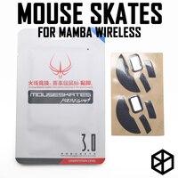 ホットラインゲーム 2 セット/パック競技レベルマウス足スケート gildes razer のマンバワイヤレス 0.6 ミリメートル厚テフロン