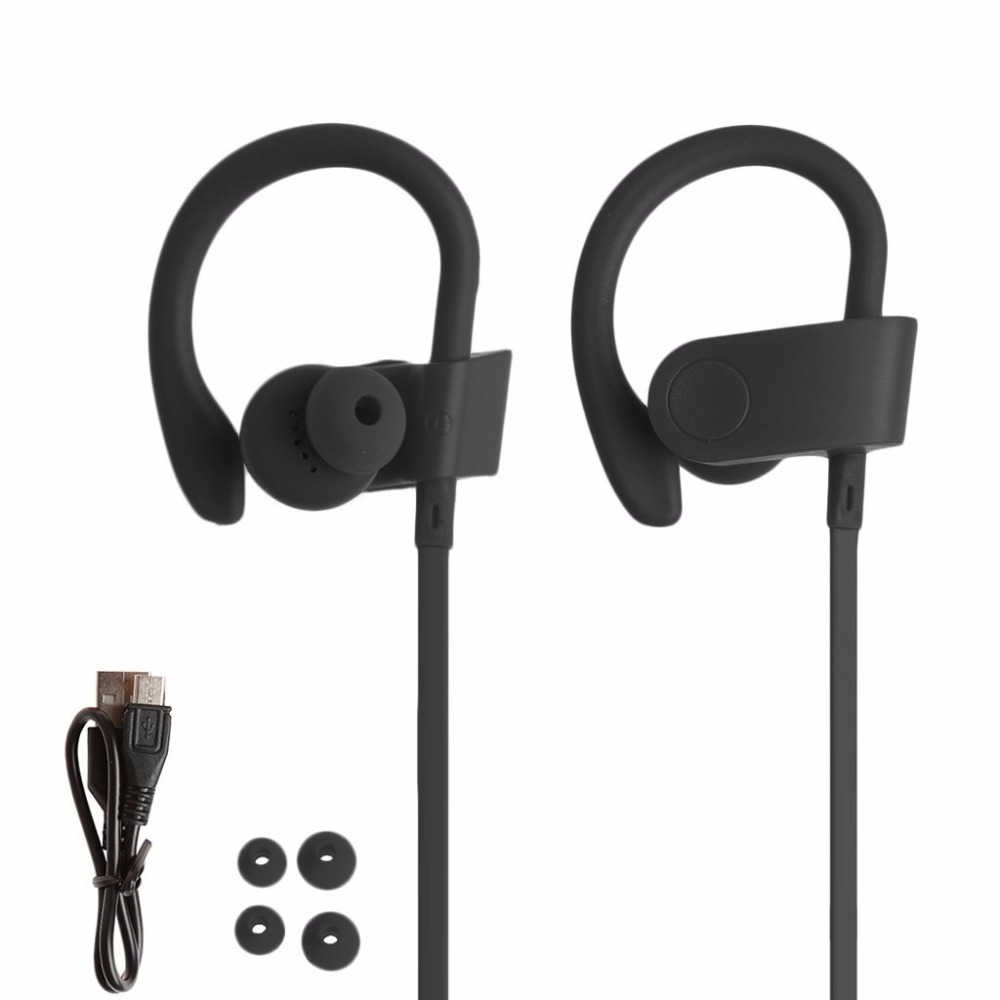 Newest Bluetooth 4.2 Earphones Wireless In-ear Sport Music Stereo Headphone Handsfree with Mic Headset Earhook for Iphone Xiaomi newest high quality super bass sport earhook in ear earphones headset headphone with mic for iphone 6s samsung xiaomi mp3