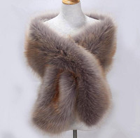 Autumn and winter women's Ultra long faux fox fur collar muffler scarf raccoon fur cape thicken warm Pashmina