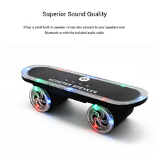 Wireless Speakers Scooter Skateboard Bluetooth Speaker LED Light Stereo Outdoor Loudspeaker With Mic TF Card Handsfree