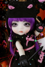 flash sale!free shipping!free makeup&eyes!top quality bjd 1/8 baby doll lati Halloween Ver. Cat Lea cute sd yosd hot toy kids
