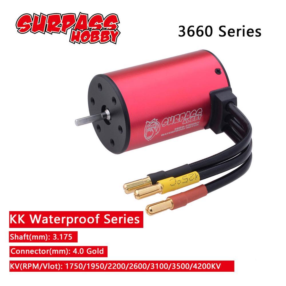 X-TEAM 3650 3500KV 4 Poles Brushless Motor for 1//10 off-road RC Car Crawler Kits
