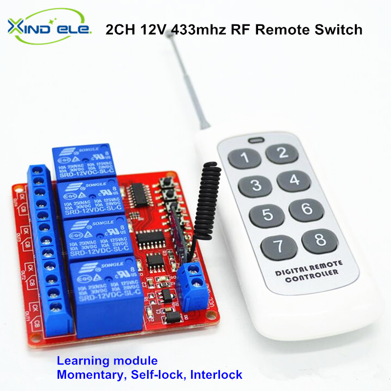 Manufacturer,Remote Control Light Switch DC 12V On Off Switch With RF 433.92 mhz Wireless Controller For Home Automation dc 12v led display digital delay timer control switch module plc automation new