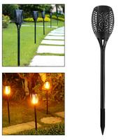 Waterproof Outdoor 96 LEDS Solar Energy Light Halloween Christmas Lights With Torch Shape And Light Sense