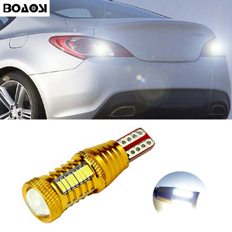 BOAOSI 1х безошибочной супер яркий Обратный свет 912 921 Т15 для Hyundai ix20 ix35 у ix55 матрицы Санта свалился Туксон Велостера