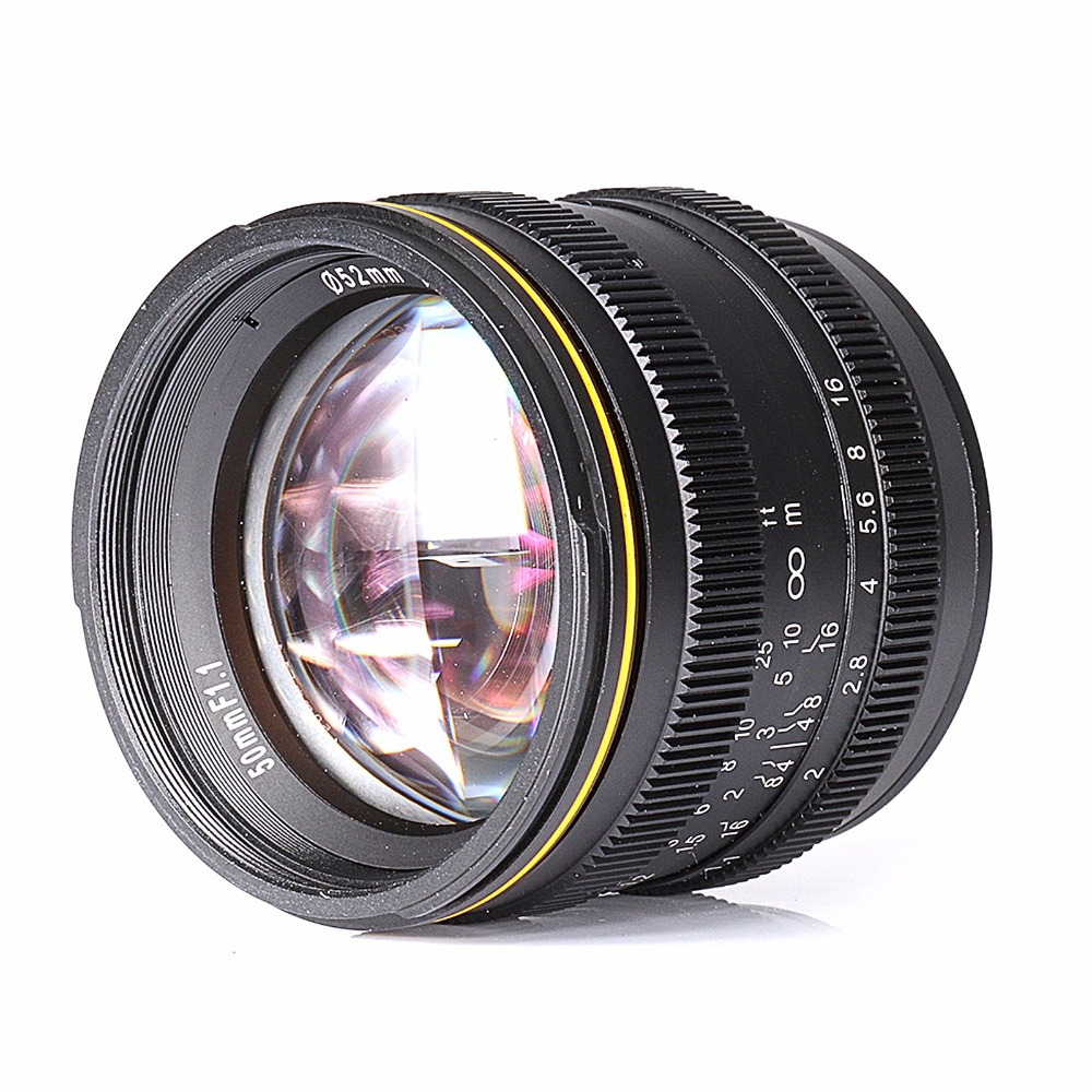NEW Kamlan 50mm F1.1 APS-C Large Aperture Manual Focus Lens For Canon EOS-M Mount
