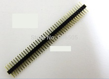 Бесплатная доставка медный 20 ШТ. 40 Контактов 1.27 мм Однорядные Основной Мужчины Контактного Коннектора Газа Для ПЕЧАТНЫХ ПЛАТ 20 шт./лот