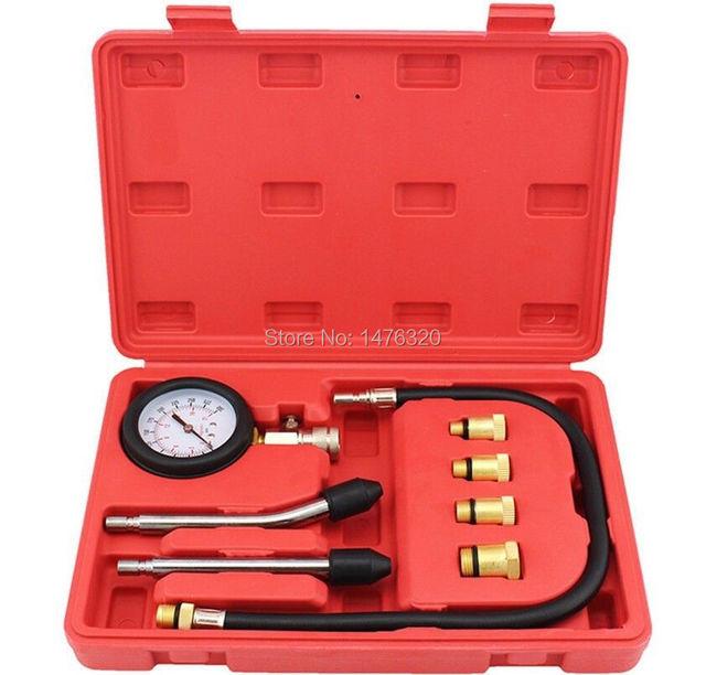 M8 M10 M12 M14 Adaptador Del Cilindro Del Motor de Gasolina de Compresión Probador De Diagnóstico Tool Set AT2057