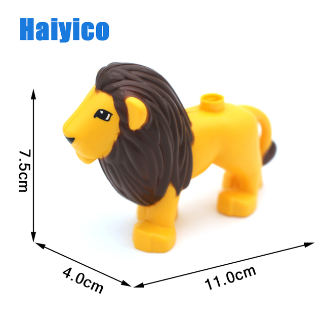 Animal Zoo Original Big Building Blocks Classic Accessories Compatible with Duplo Figure Set Bricks Children Baby Toys DIY Gift
