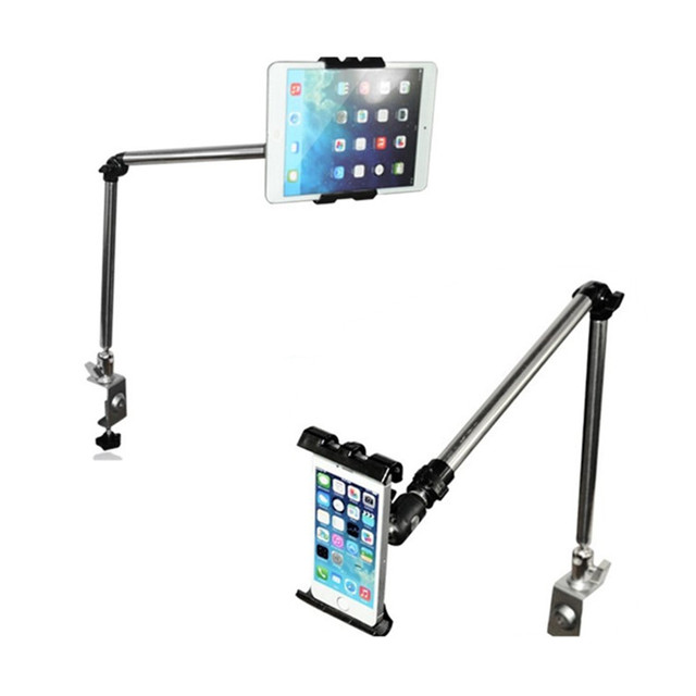 Rock 360 Degree Flexible Arm Tablet Pad Holder Stand Long Lazy People Bed Desktop Tablet Mount For Ipad Mini Ipad 234 Iphone 7