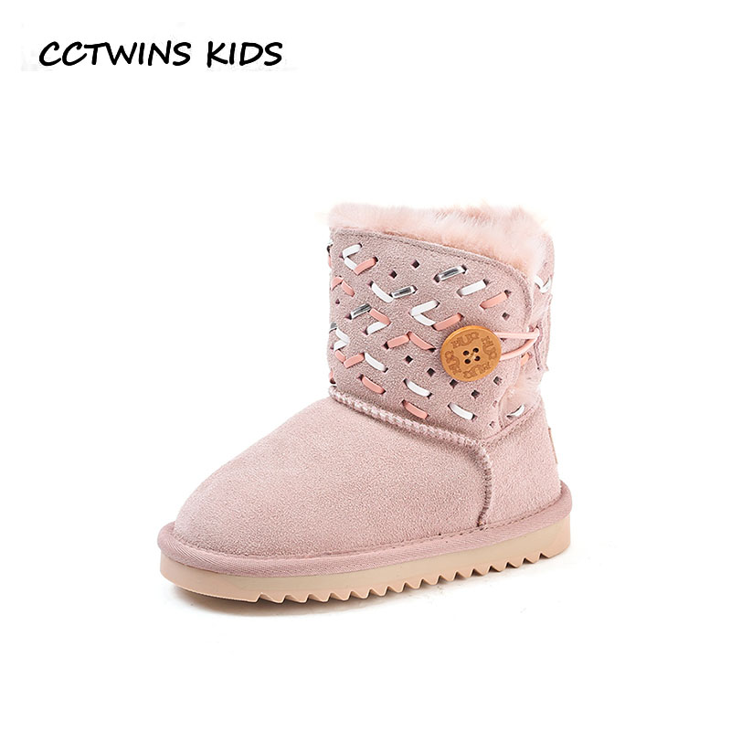 цены CCTWINS KIDS 2018 Winter Children Fashion Snow Boot Baby Girl Genuine Leather Warm Shoe Toddler Mid Calf Boot CS1685