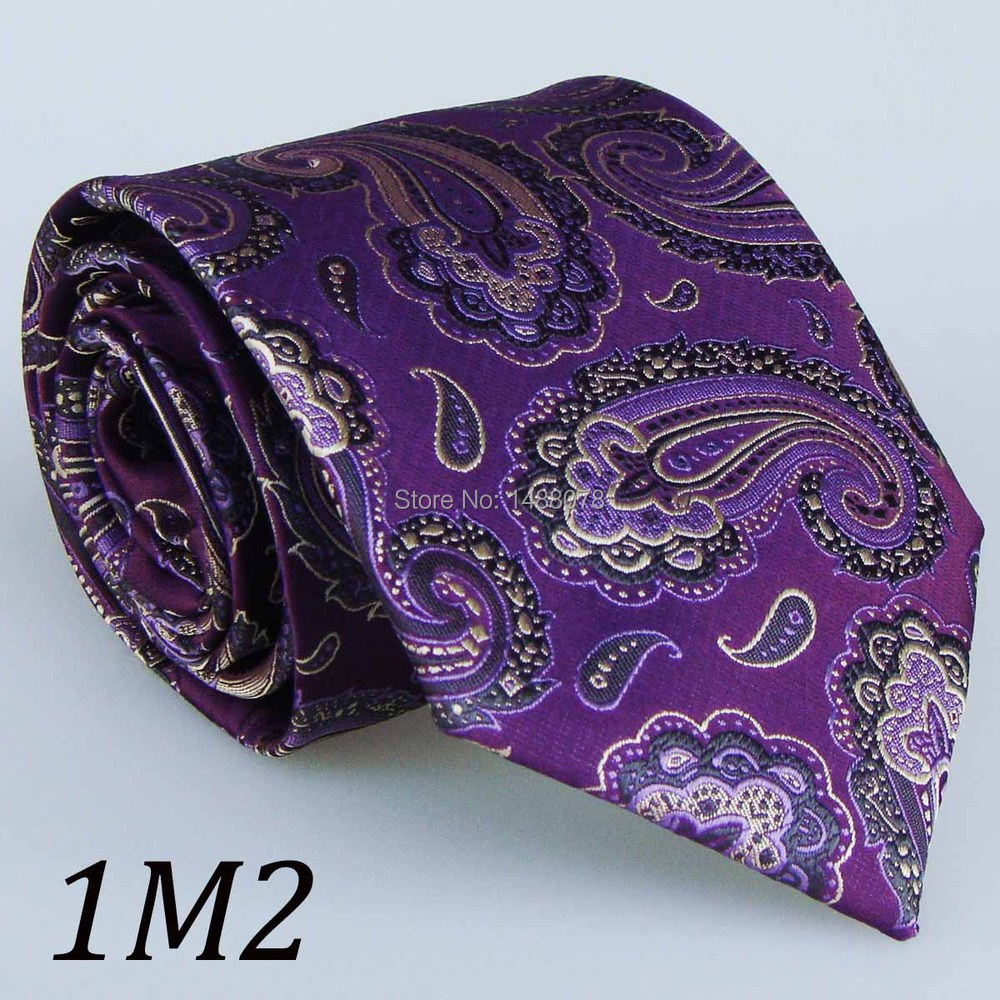 Purple Paisley Ties 1M2+++