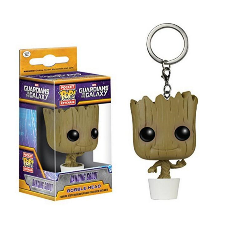 FUNKO POP Pocket Pop Keychain Dancing Groot Action Figure Collection Model Toy Gift