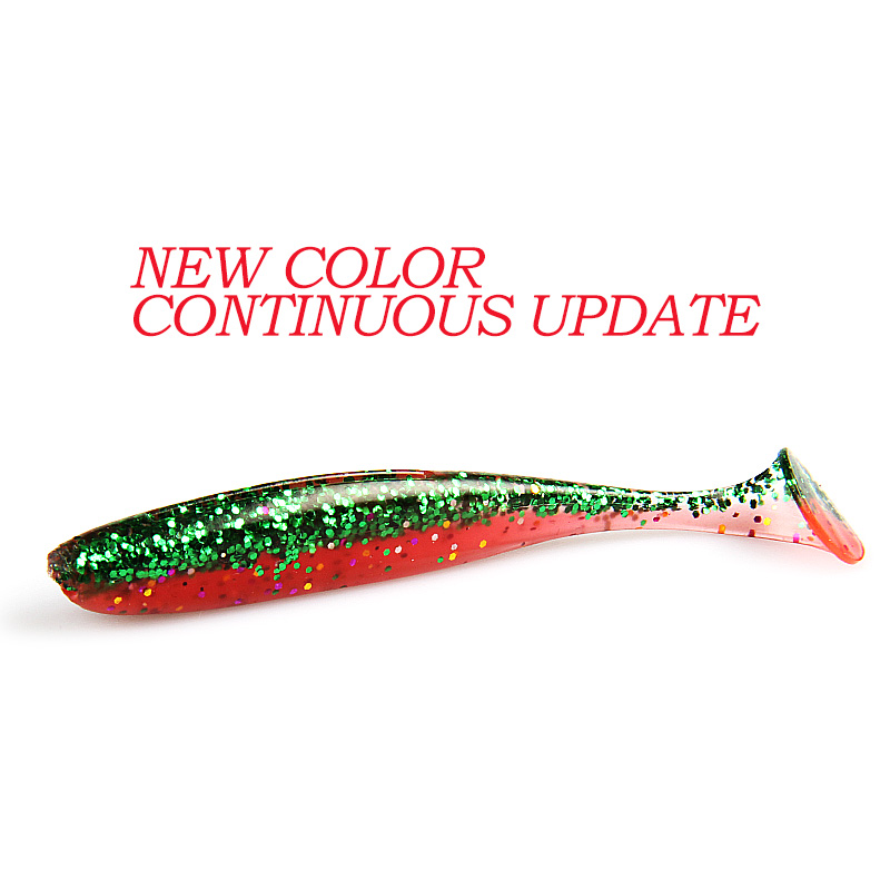2019 NEW Supercontinent Easy Shiner Soft Lures   Baits Fishing Lure Leurre Shad Double Color Silicone Bait T Tail