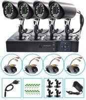 AHD 720P Weatherproof CCTV Cameras Kit IR CUT Color CMOS Home Security System 4pcs Bullet Camera For Surveillance System