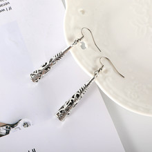 CRLEY Vintage Hollow Silver Dangle Earring Handmade Long Earrings vintage Wholesale boho Fashion Jewelry Accessories