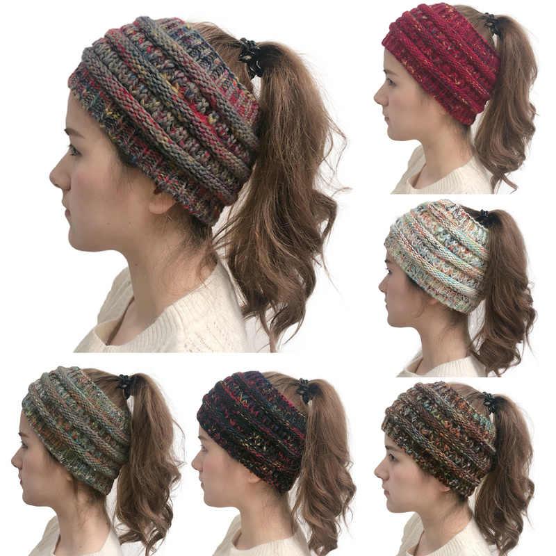 2019 Новый головной убор вязаная повязка на голову тюрбан зимняя теплая повязка для ушей эластичная лента для волос женские широкие аксессуары для волос