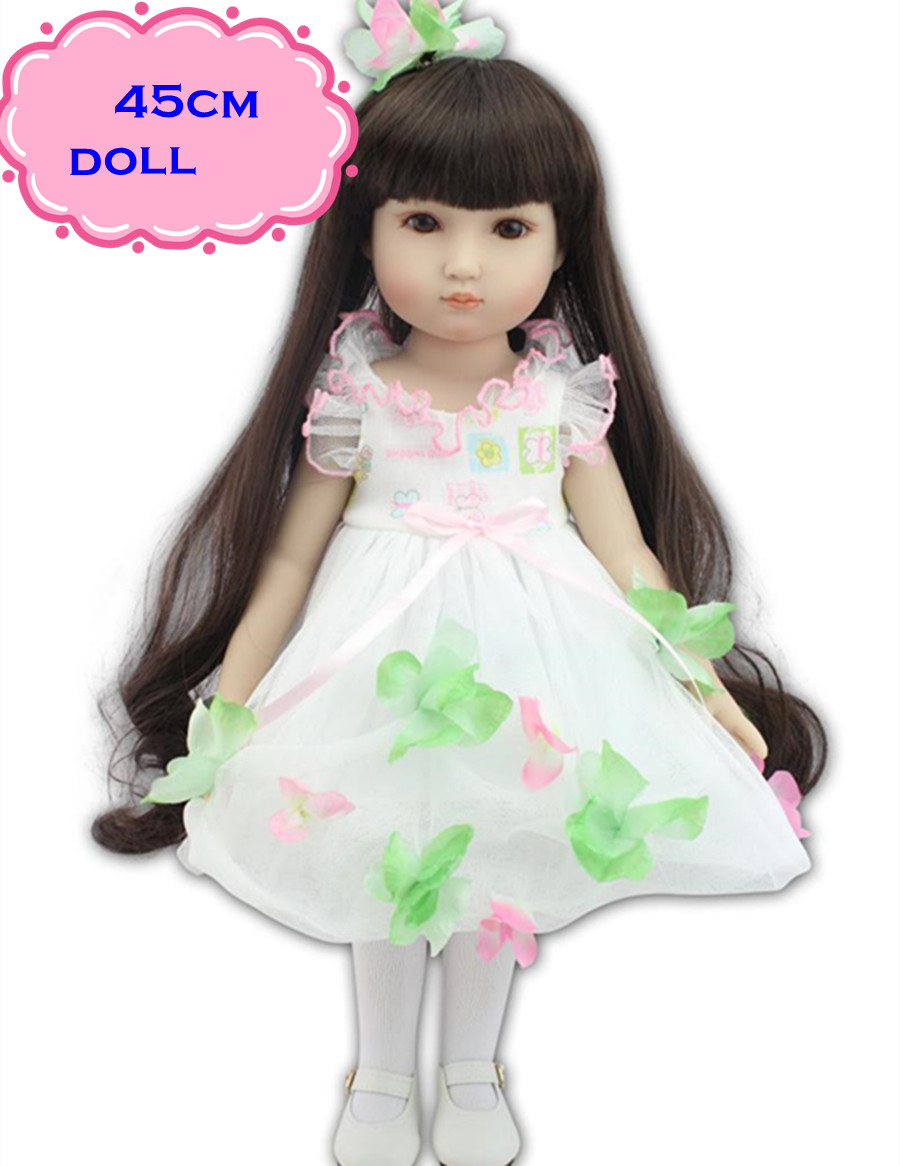 ФОТО 18inch Pretty NPK Full Vinyl American Girl Doll In Beautiful Skirt Like A Princess Doll Reborn As The Best Playmate For You Love