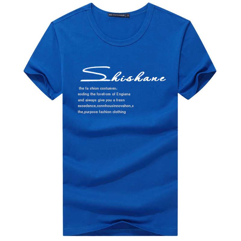 Большой размер, Мужская свободная тонкая летняя футболка, Хлопковая мужская однотонная 3D печать, Забавные футболки, Мужская Фитнес-мешковатая футболка с шутливой надписью 5XL 6XL 7XL 8XL