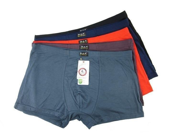 5pcs/lot Clear inventory Mens Solid Boxer Shorts Underwear Bamboo Cuecas boxer men Calcinha Trunks ropa interior hombre 5XL 6XL