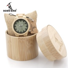 BOBO BIRD B22 Fashion Wood Wristwatch Bamboo Watch with Silver Needle Casual Jaapaness Quartz Watch for Male in Wood Gift Box