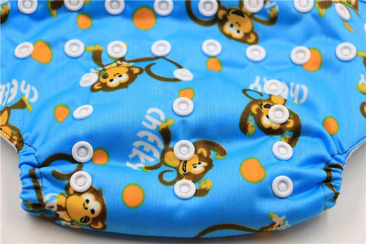 2016 моющиеся ткани детские пеленки Водонепроницаемый мультфильм обезьяна детские Подгузники многоразовый подгузник ткань костюм От 0 до 2 лет без вставки
