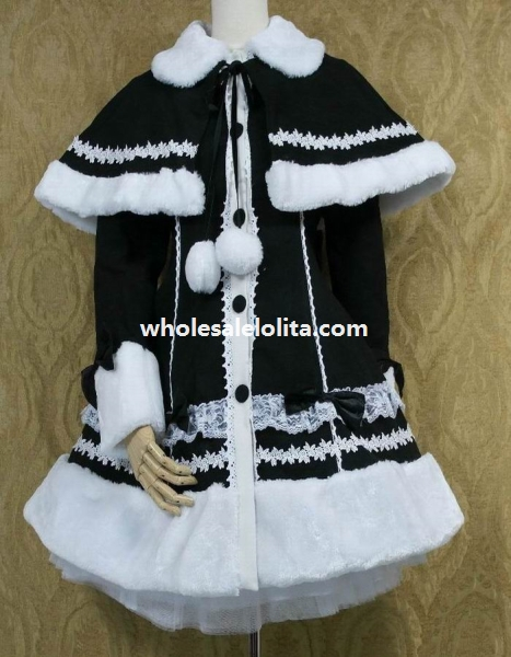 Cape Avec Personnaliser 4xl Lolita 5xl Détachable Veste Vente Couleur 3xl Noir Pour Coton 6 qtxCRwHOBX