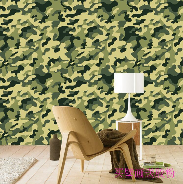 Camouflage wallpaper promotion shop for promotional for Camouflage wall mural