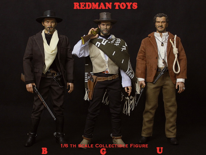 1/6 scale Figure doll Western cowboy The Good man & the Bad man & The Ugly 12