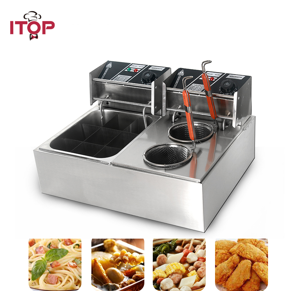 ITOP Commercial electric Pasta boiler & Oden cooking machine Stainless Steel Noodles Cooker Machine 110V/220V