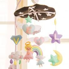 Angel Cloud Aeolian Bells Craft kits Mom Handmade Baby Bed Ornaments Felt Aeolian Bells Kit Wall Hanging Decor Felt Toy DIY set