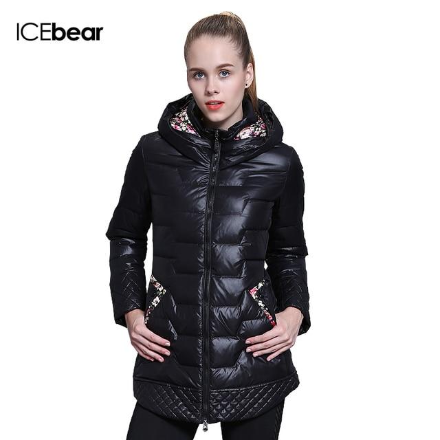 ICEbear 2015 зима модный бренд одежды скидки в воспитать в себе мораль долго утка вниз пальто куртки женщины 66112-1