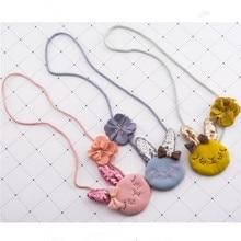 Korea Handmade Cute Fabric Cartoon Rabbit Lace Flower Bowknot Children Necklace For Girls Kids Apparel Accessories-HZPRCGNL027F