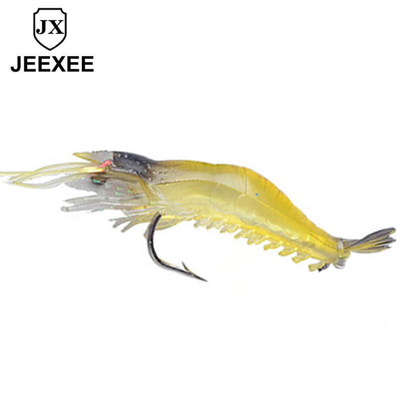 40mm 0.12g 1pcs Soft Silicone Shrimp Fishing Lure Wobblers Fishing Minnow Trout Fish Lures Artificial Bait Hook Bass Tackle Jig 5pcs box luminous simulation prawn soft rubber shrimp fishing lure floating fake bait fishing artificial hook tackle tool