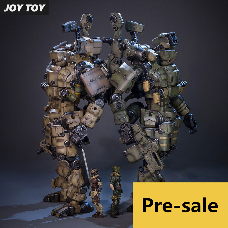 Genuine JOY TOY 1:27 the 4rd generation Action figure  robot Military soldier Set, a birthday present  (Simple packaging) фигурка planet of the apes action figure classic gorilla soldier 2 pack 18 см
