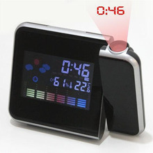 Color Screen Weather Forecast Clock Lazy Electronic Clock Perpetual Calendar Weather Station Projection Alarm Clock 3