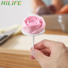 HILIFE Plastic Piping Nail Verwijderbare Cake Flower Nails Ijs Cake DIY Decorating Gereedschap 4 stks/set Bakken Piping Stands Gereedschap(China)