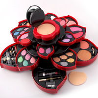 MISS ROSE 2017 New Fashion Plum Blossom Multi function Eye Shadow Plate Natural Sexy Makeup Series 40 * 15cm Makeup Box