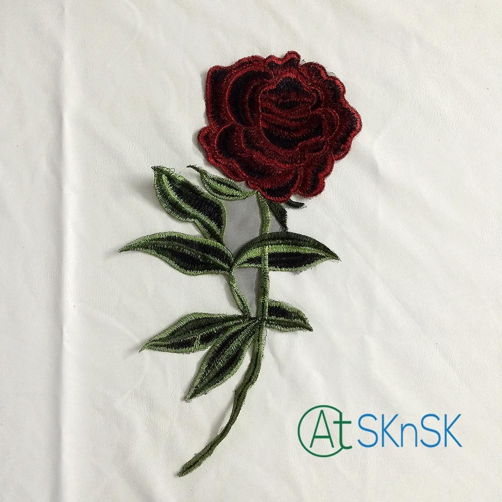 ᐂ200 unids exquisito Bordado Encaje remiendo de La Flor peonía ...