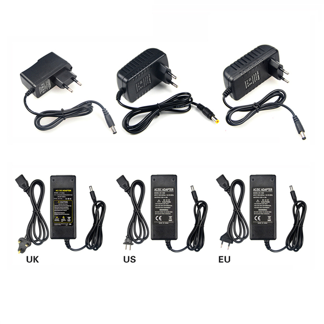 AC100V - 240V to DC 12V 1A 2A 3A 5A 6A 8A lighting transformers Power Supply Adapter Converter Charger For LED Strip light